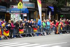 Marathon de 2017 NYC - fans image libre de droits