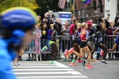 Marathon de 2017 NYC - femmes d'élite Photo stock