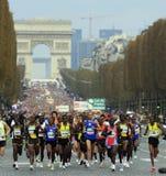 Marathon de París-Arrancar Imagen de archivo libre de regalías
