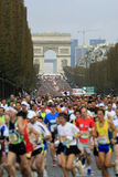 Marathon de París-Arrancar Fotos de archivo