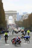 Marathon de París-Arrancar Fotos de archivo libres de regalías