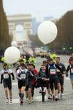 Marathon de París-Arrancar Fotografía de archivo