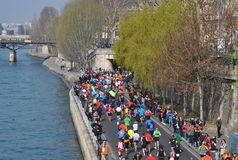 Marathon De Paris Photo libre de droits
