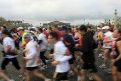 Marathon de Paris-Anlassen Stockfotografie