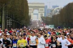 Marathon de Paris-Démarrer Images libres de droits