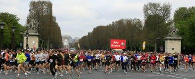 Marathon DE Paris-Start Royalty-vrije Stock Afbeeldingen