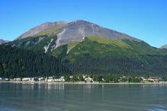 Marathon de support de Seward Alaska Image libre de droits