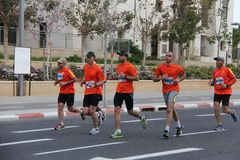 Marathon de Tel Aviv Gillette Photographie stock libre de droits