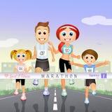 Marathon Family Stock Photo