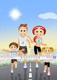 Marathon Family Royalty Free Stock Image