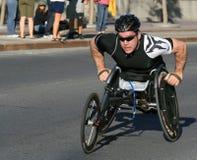 Marathon - fauteuil roulant Images stock