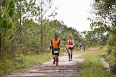 Marathon Fit people running race Stock Photos