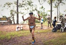 Marathon Fit people running race. Marathon running race Phu Kradueng Wake Up Run at park Loei of thailand 1 October 2017 Royalty Free Stock Image