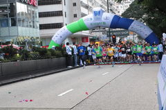 Marathon Hong Kong Royalty Free Stock Photography
