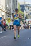 Marathon international 04 de Bucarest de banque de Raiffeisen 10 2015 Images stock
