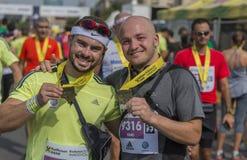 Marathon international 2015 de Bucarest de banque de Raiffeisen Photographie stock libre de droits