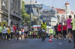 Marathon international 04 de Bucarest de banque de Raiffeisen 10 2015 Photographie stock libre de droits