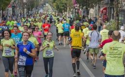Marathon international 04 de Bucarest de banque de Raiffeisen 10 2015 Photo stock