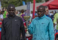 Marathon international 04 de Bucarest de banque de Raiffeisen 10 2015 Photo libre de droits