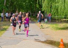 Marathon in Keszthely town, Hungary stock image