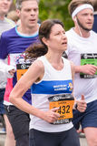 Marathon-Läufer Sandra Williams lizenzfreie stockfotos