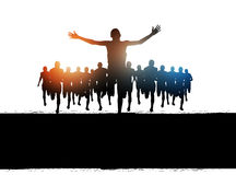 Marathon-Lack-Läufer Erfolg stock abbildung