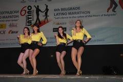 Marathon latin Images libres de droits