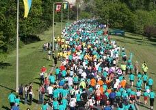 Marathon le long de colonel By Driv Images libres de droits