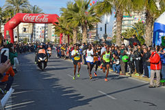 Marathon Leaders Royalty Free Stock Photo