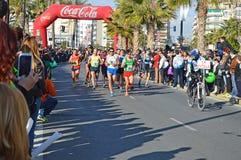 Marathon Leading Woman. stock photos