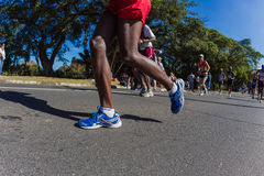 Marathon Legs Shoes Action  Royalty Free Stock Images
