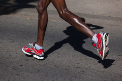 Marathon Legs Shoes Nike Royalty Free Stock Photography