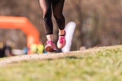 Marathon lopend ras, mensenvoeten Royalty-vrije Stock Afbeelding