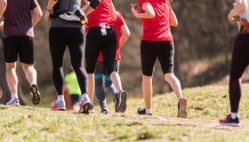 Marathon lopend ras, mensenvoeten Stock Foto's