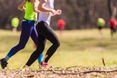 Marathon lopend ras, mensenvoeten Stock Afbeelding