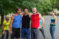 Marathon male athletes posing royalty free stock image