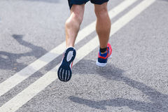 Marathon man runner Stock Photo