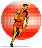 Marathon man running Royalty Free Stock Images