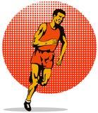 Marathon man running Royalty Free Stock Images