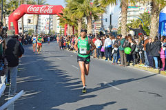 Marathon Man Running His Race - Sport Fitness Athletic Athlete Stock Photography