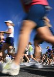 Marathon Motion Blur Royalty Free Stock Photos