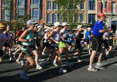 Marathon Motion in Downtown Ottawa Royalty Free Stock Photography