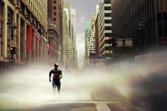 Marathon New York. Marathon runners in the streets of New York Stock Photo