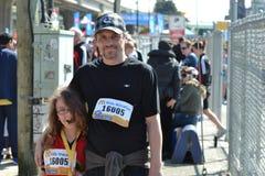 Marathon onderaan stad Vancouver stock afbeelding