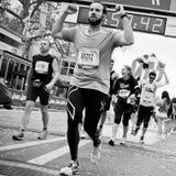 Marathon of Paris - finishing line Royalty Free Stock Images
