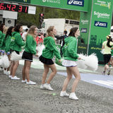 Marathon of Paris - finishing line girls Royalty Free Stock Image