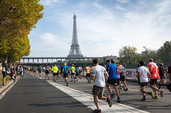 Marathon in Paris Stock Photo