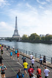 Marathon in Paris Royalty Free Stock Photo