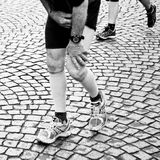 Marathon of Paris - man who suffers Royalty Free Stock Images