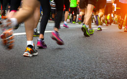 Marathon. Photo of marathon runners, Sweden, Stockholm stock photography